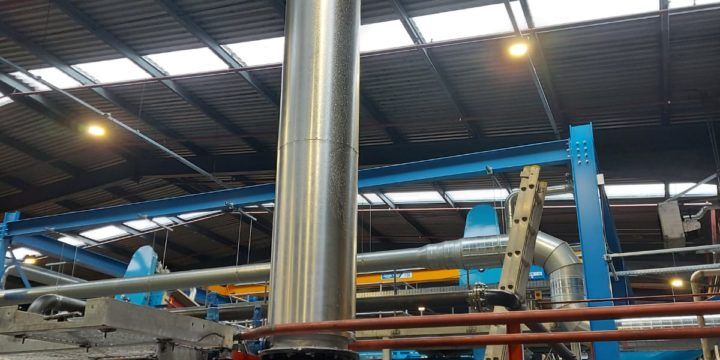 12m high x 500mm ID chimney supplied and installed at SRCL in Ballymena